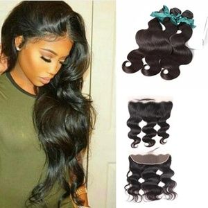 Wholesale body wave bundle with frontal
